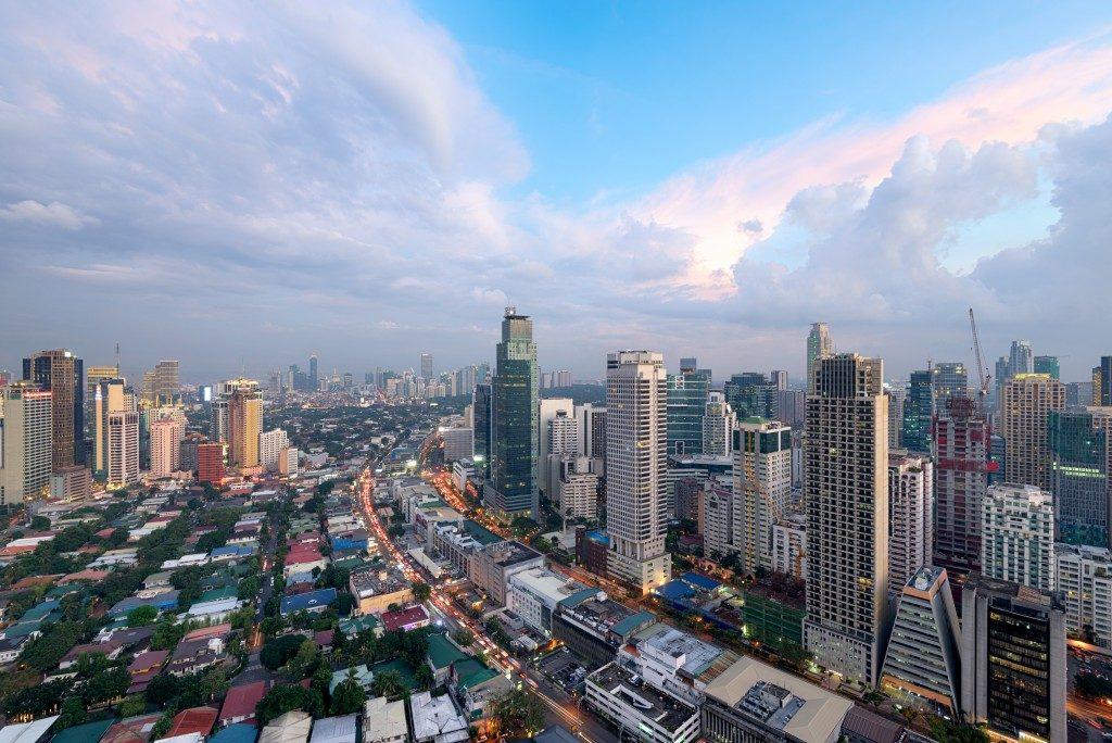 Makati City Skyline, Manila, Philippines.