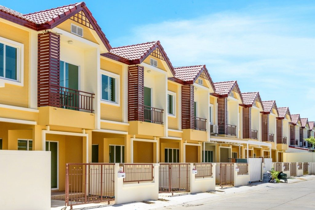 Townhouses in a subdivision