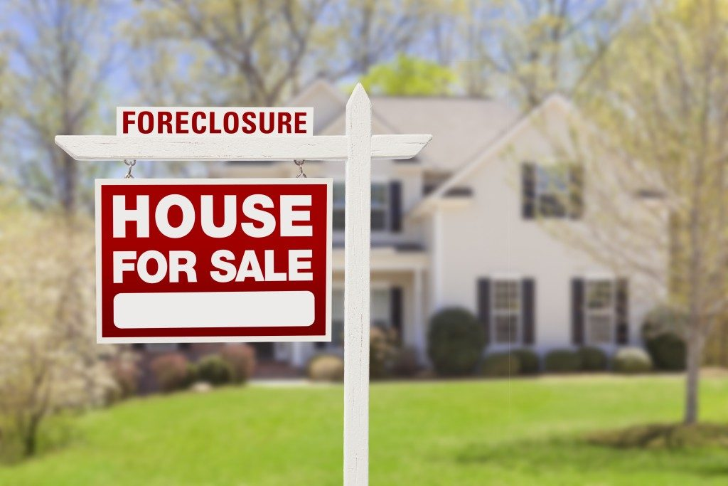 Foreclosed suburban home