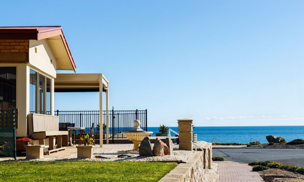 beach front house